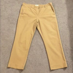 Gap Khaki Tailored Crop Pants